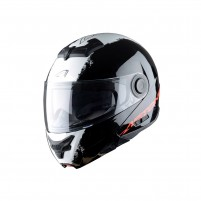 Casco Modulare, Astone RT800 graphic exclusive STRIPES black white