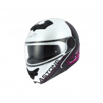 Casco Modulare, Astone RT800 graphic exclusive LINETEK pink/white