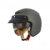 Casco Jet - Demi Jet, Astone Sportster 2 mono color matt brown metallic grey