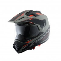 Casco Cross - Enduro, Astone CROSS TOURER GRAPHIC ADVENTURE Matt grey/black