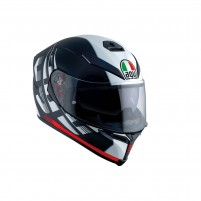 Casco Integrale, AGV K-5 S MULTI ECE2205 PLK DARKSTORM MATT BLACK-RED