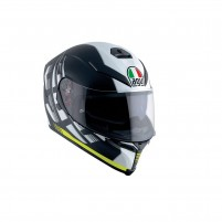 Casco Integrale, AGV K-5 S MULTI ECE2205 PLK DARKSTORM MATT BLACK-YELLOW