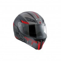 Casco Modulare, AGV COMPACT ST MULTI ECE2205 PLK SEATTLE MATT BLACK-SILVER-RED