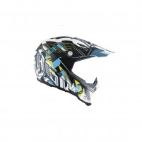 Casco Cross - Enduro, AGV AX-8 EVO MULTI ECE2205 NOFOOT MATT WHITE-CYAN