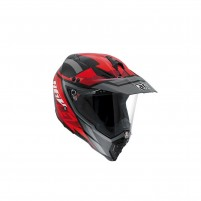 Casco Cross - Enduro, AGV AX-8 DUAL EVO MULTI ECE2205 KARAKUM BLACK-GUNMETAL-RED