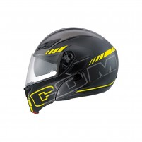 Casco Modulare, AGV COMPACT ST MULTI ECE2205 PLK SEATTLE MATT BLACK-SILVER-YELLOW FLUO