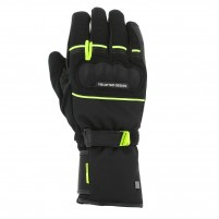 Guanti moto, V4 ACTIVE GLOVES MAN- PHONE TOUCH NERO/GIALLO