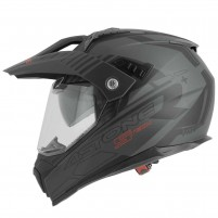 Casco Cross - Enduro- Astone CROSSMAX graphic STECH NERO OPACO