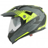 Casco Cross - Enduro- Astone CROSSMAX graphic STECH GRIGIO OPACO- GIALLO