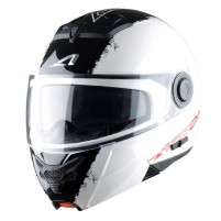 Casco Modulare, Astone RT800 graphic exclusive STRIPES white black