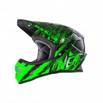 Casco Cross - Enduro- O'NEAL 3SERIES Youth Helmet MERCURY nero/verde