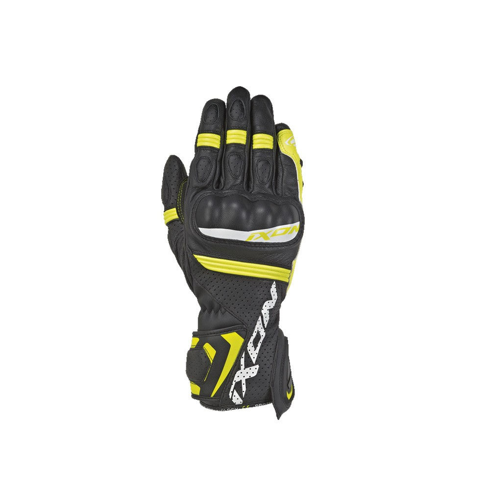 Guanti moto- Ixon RS TEMPO AIR nero-giallo vivo