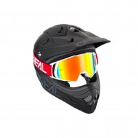 Maschere Off road- O'NEAL B-20 Goggle FLAT rosso-bianco - clear