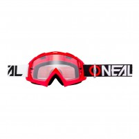 Maschere Off road- O'NEAL B-10 Goggle TWOFACE rosso - clear