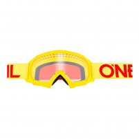 Maschere Off road- O'NEAL B-10 Youth Goggle SOLID hi-viz-rosso