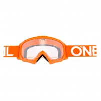 Maschere Off road- O'NEAL B-10 Youth Goggle SOLID arancio-bianco