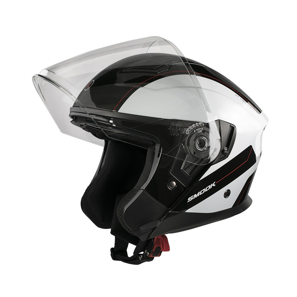 Casco Jet - Demi Jet- SMOOK CASCO NJT-ONE Nero-Bianco