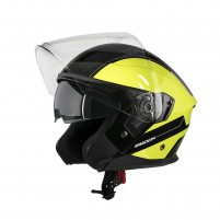 Casco Jet - Demi Jet- SMOOK CASCO NJT-ONE Nero-Giallo Fluo