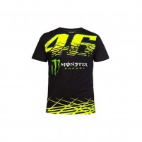 T-Shirt- VR46 T-SHIRT 46 MONSTER MAN NERO