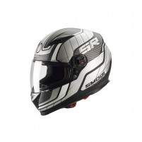 Casco Integrale- SMOOK Casco FF-813 INTEGRALE Nero-Bianco