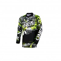Off road- O'NEAL ELEMENT Jersey ATTACK nero/hi-viz