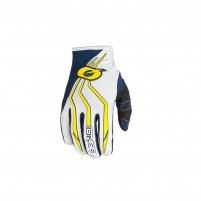 Guanti moto- O'NEAL ELEMENT Glove blu/giallo