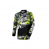Off road- O'NEAL ELEMENT Youth Jersey ATTACK nero/hi-viz