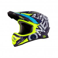 Casco Cross - Enduro- O'NEAL 3SERIES Helmet HELIUM blu