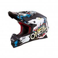 Casco Cross - Enduro- O'NEAL 3SERIES Helmet VILLAIN bianco