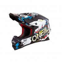 Casco Cross - Enduro- O'NEAL 3SERIES Youth Helmet VILLAIN bianco