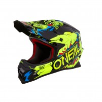 Casco Cross - Enduro- O'NEAL 3SERIES Helmet VILLAIN neon giallo