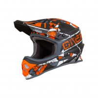 Casco Cross - Enduro- O'NEAL 3SERIES Helmet ZEN arancione