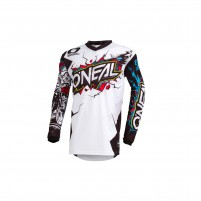 Off road- O'NEAL ELEMENT Jersey VILLAIN bianco