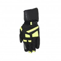 Guanti moto- SMOOK Tornado Winter Gloves Nero-Giallo Fluo