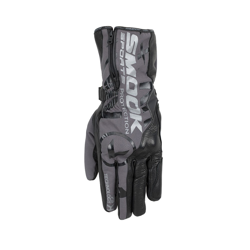 Guanti moto- SMOOK Watson Winter Gloves Nero-Antracite
