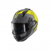 Casco Modulare- SHARK HELMETS EVO-ONE 2 SLASHER MAT Antracite-Giallo-Nero