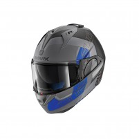 Casco Modulare- SHARK HELMETS EVO-ONE 2 SLASHER MAT Antracite-Nero-Blu