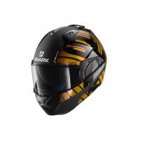 Casco Modulare- SHARK HELMETS EVO-ONE 2 LITHION DUAL Nero Cromo-Oro