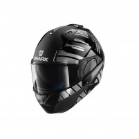 Casco Modulare- SHARK HELMETS EVO-ONE 2 LITHION DUAL Nero Cromo-Antracite