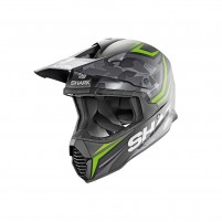 Casco Cross - Enduro- SHARK HELMETS VARIAL TIXIER MAT Nero-Verde-Antracite