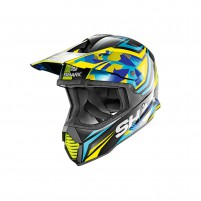 Casco Cross - Enduro- SHARK HELMETS VARIAL TIXIER Nero-Blu-Giallo