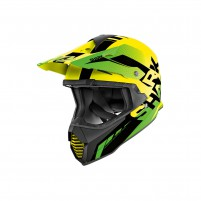 Casco Cross - Enduro- SHARK HELMETS VARIAL ANGER Giallo-Nero-Verde