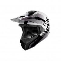 Casco Cross - Enduro- SHARK HELMETS VARIAL ANGER Bianco-nero-Antracite