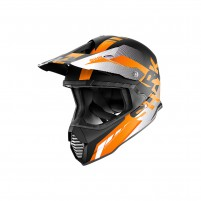 Casco Cross - Enduro- SHARK HELMETS VARIAL ANGER Nero-Arancio-Bianco