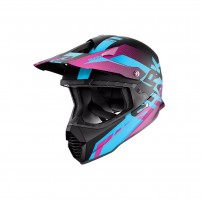 Casco Cross - Enduro- SHARK HELMETS VARIAL ANGER Nero-Blu-Fucsia