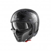 Casco Jet - Demi Jet- SHARK HELMETS S-DRAK CARB FREESTYLE CUP Carbonio-Antracite