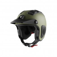 Casco Cross - Enduro- SHARK HELMETS ATV-DRAK Mat Verde Opaco