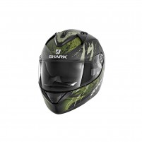 Casco Integrale- SHARK HELMETS RIDILL THREEZY MAT Nero-Bianco-Verde