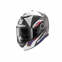 Casco Integrale- SHARK HELMETS SPARTAN REDDING MAT Nero-Blu-Bianco