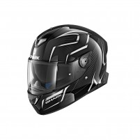 Casco Integrale- SHARK HELMETS SKWAL 2 FLYNN WHT LED Nero-Bianco-Antracite